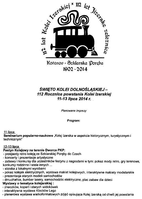 112 lecie kolei izerskiej