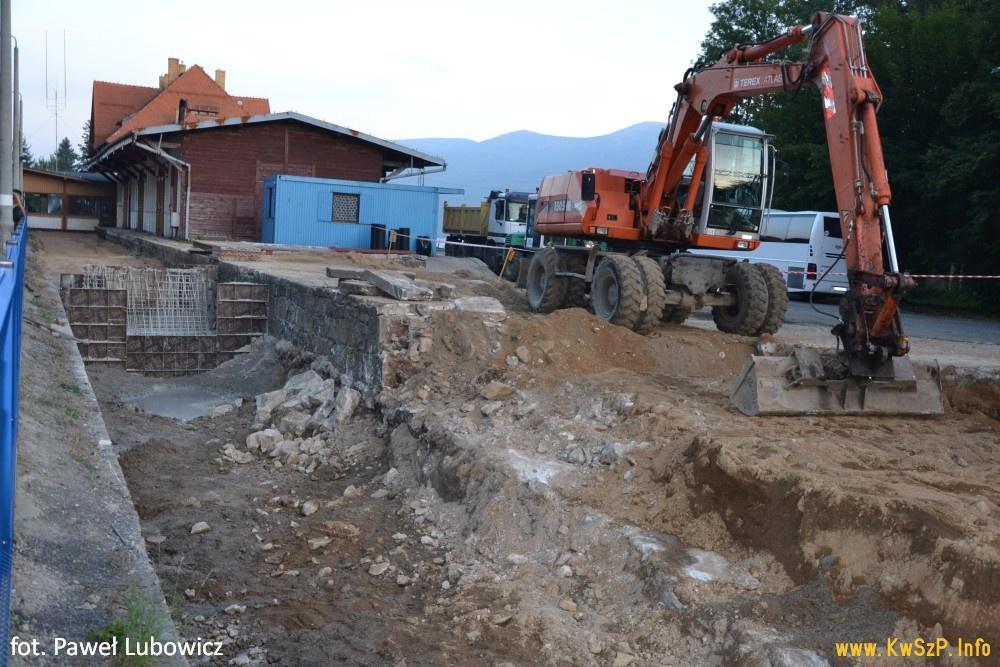 Szklarska Poręba Górna 24.09.2016 budowa peronu 3